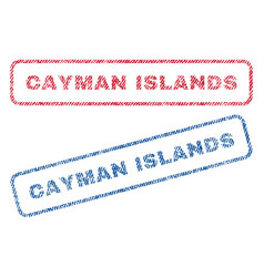 Cayman islands textile stamps vector