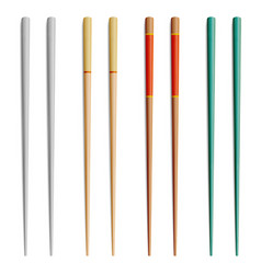 Chopsticks for exotic nutrition sushi vector