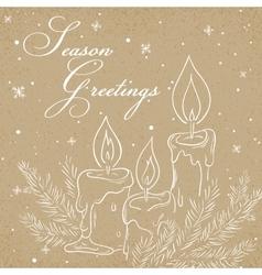 christmas kraft paper card vector image