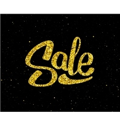 Christmas Sale gold glittering lettering design vector image vector image