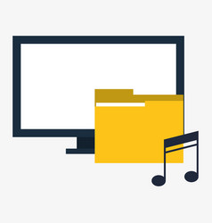 Computer digital folder music vector