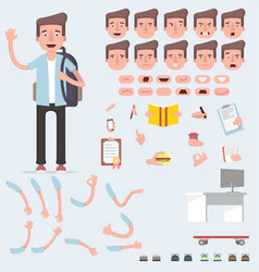 creating a young guy with a lot of different views vector image