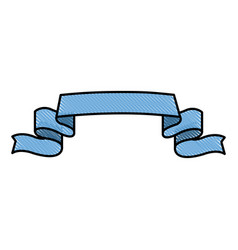 drawing ribbon banner element decoration design vector image