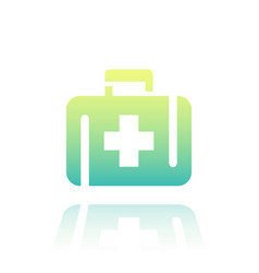 first aid kit icon over white vector image