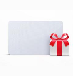 glossy gift box vector image vector image
