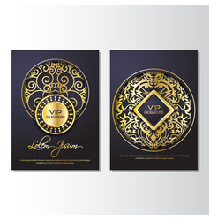 Gold background flyer style design template vector