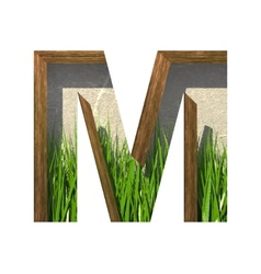 Grass cutted figure m paste to any background vector