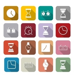 Icons clock vector