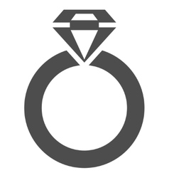 Jewelry Ring Flat Icon vector image
