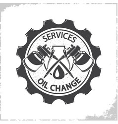Oil change services logo vector