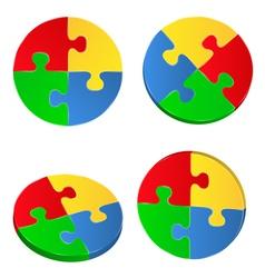 Puzzle circles vector