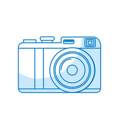 Silhouette cute digital camera to take a picture vector