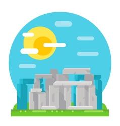 Stonehenge site flat design landmark vector image vector image