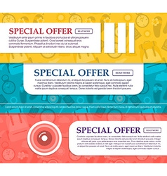Three horizontal banners on the theme of travel vector image vector image