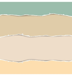 Torn Paper Abstract in Pastel Colors vector image