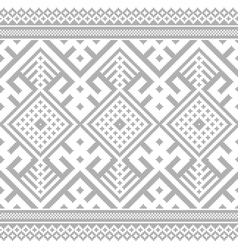 Ukrainian ethnic stitch pattern vector
