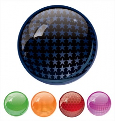 ultra glossy globes vector image