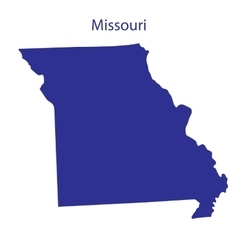 United states missouri vector