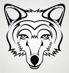 Wolf Head Tribal vector image