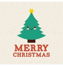 Happy merry christmas card icon vector