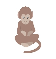 Funny monkey sitting vector
