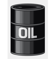 Black oil barrel vector image
