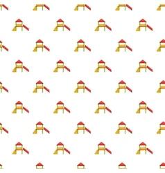 Slide house pattern cartoon style vector