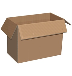Open cardboard box isolated vector
