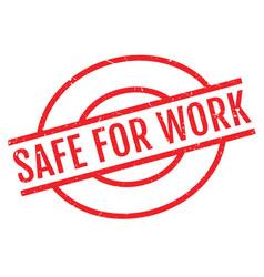 safe for work rubber stamp vector image