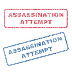 Assassination attempt textile stamps vector