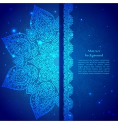Blue vintage indian ornament vector