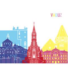 Vaduz skyline pop vector