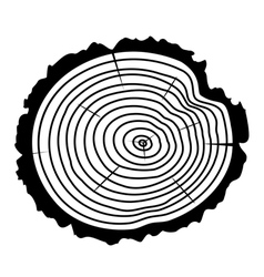 Wooden cut of a tree log vector