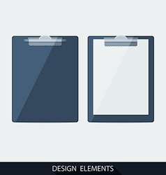 clipboard with blank paper vector image