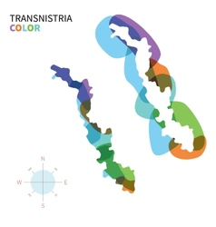 Abstract color map of transnistria vector