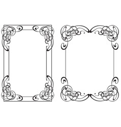 two frame in style modern vector image