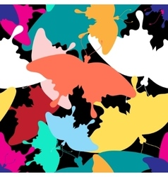 Pattern of colorful butterflies vector