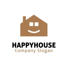 Happy house design vector