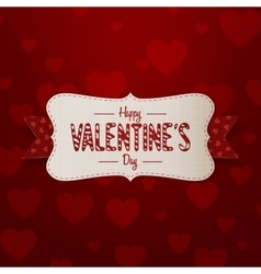 Big valentines day banner with text and ribbon vector