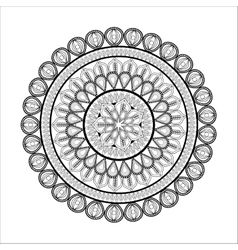 Black and white mandale icon bohemic design vector
