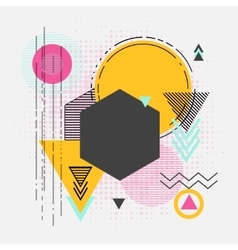 Abstract retro geometric background for vector image vector image