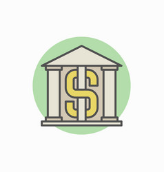 bank colorful icon vector image vector image
