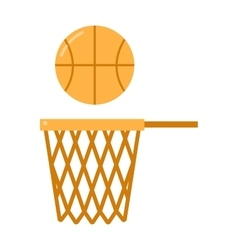 basketball ball net vector image