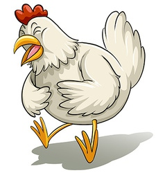 Big white hen vector
