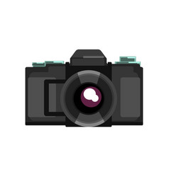 black camera on a white vector image