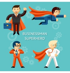 Business superheroes characters vector image