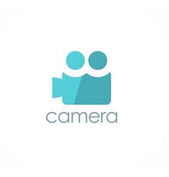 Camera record logo vector