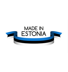 colored ribbon with the estonian tricolor vector image