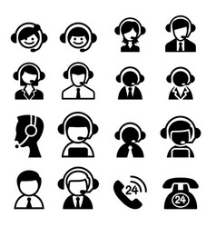 Customer service icon vector