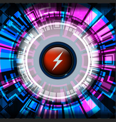 cyber digital energy vector image vector image
